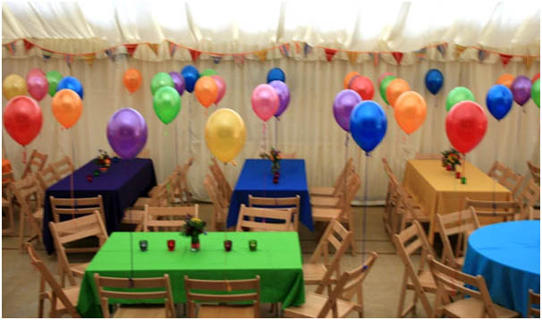 Childrens Party Baloons in Marquee