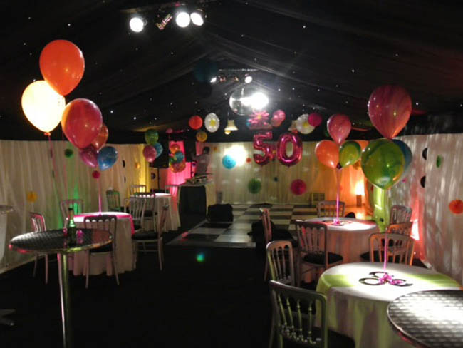 50th Birthday Party in Marquee