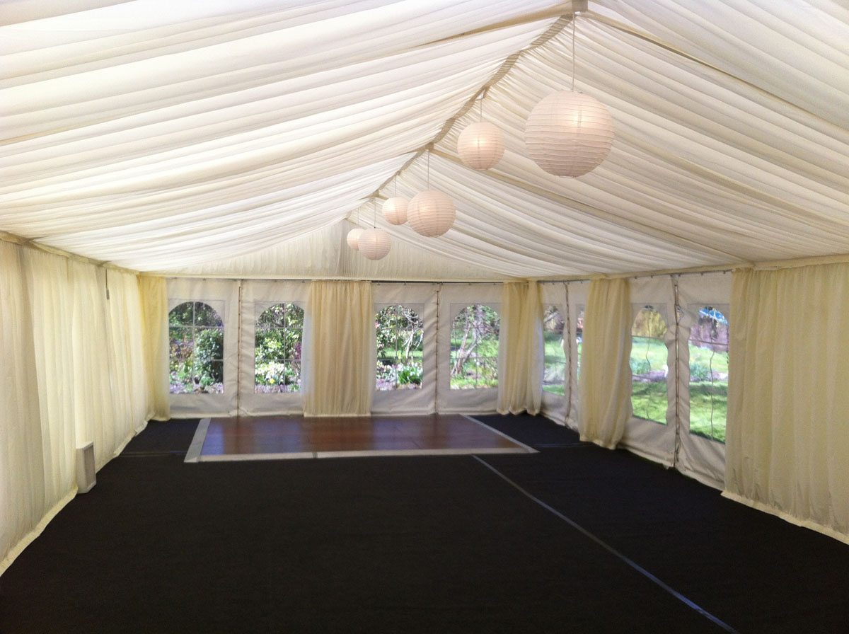 Chinese Lanterns in Marquee