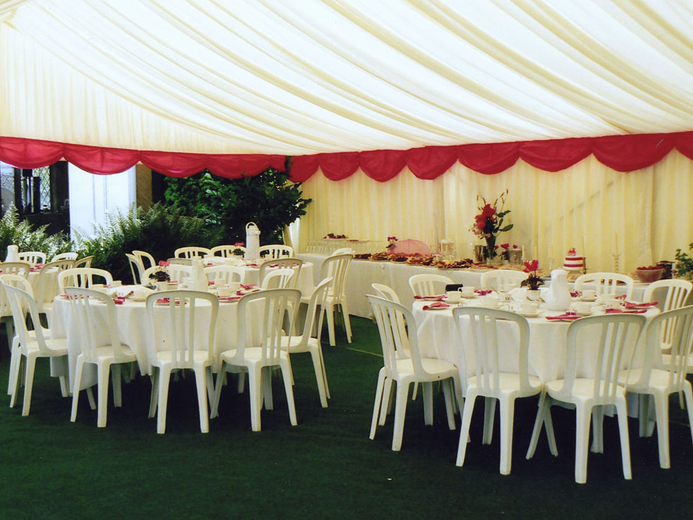 Pink Pelmets in Marquee