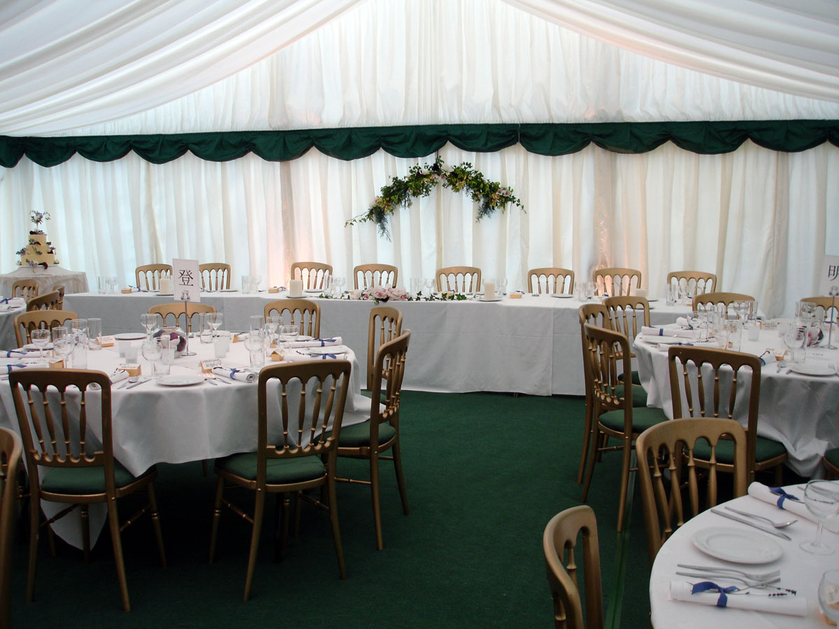 Wedding Top Table in Marquee