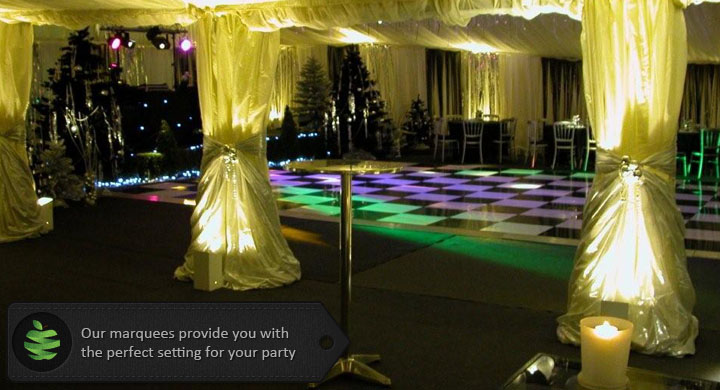 Party Marquee at Night